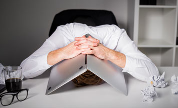 hiding laptop